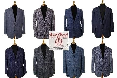Blue Harris Tweed Jacket