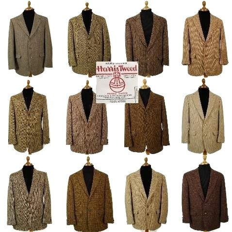 Brown Harris Tweed sport coat
