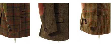 Green Tweed Jacket With Elbow Patches