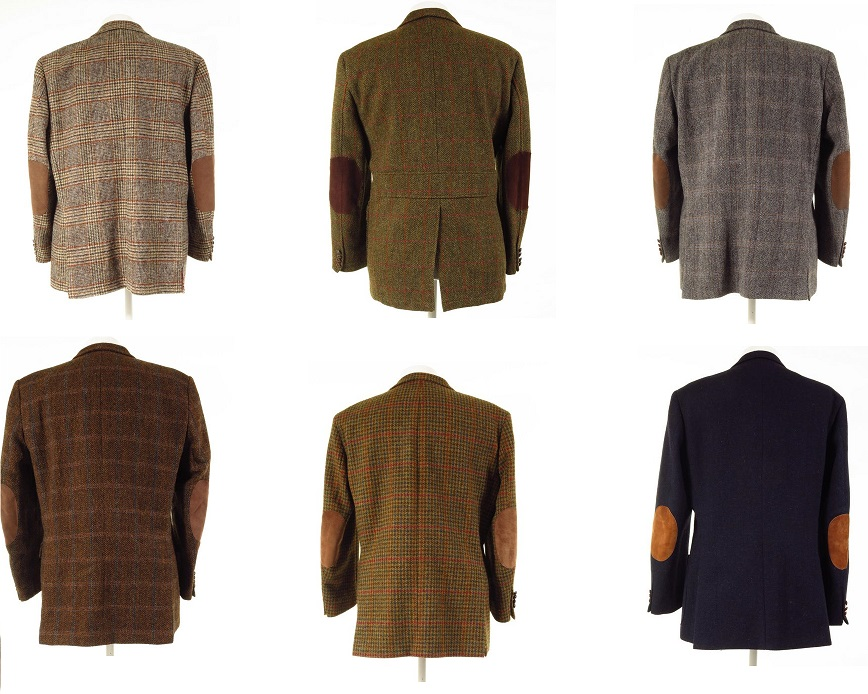 Harris Tweed Jackets With Elbow Patches