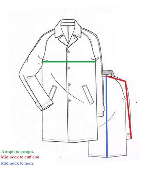 Coat Measuring Guide