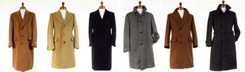 Mens Wool Tweed Overcoats