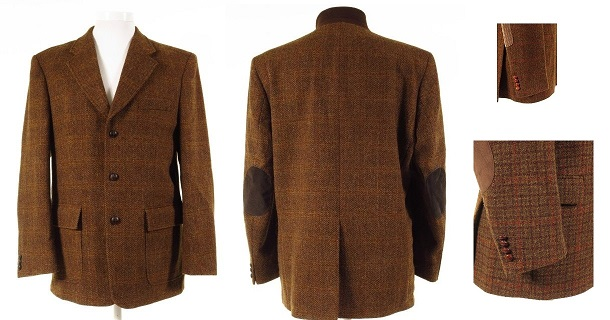 Rust Tweed Jacket With Elbow Patches
